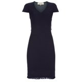 Paul Smith Dresses - Navy Wool V-Neck Dress