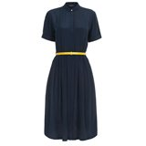 Paul Smith Dresses - Navy Belted Silk Shirt Dress
