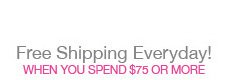 Free Shipping on Orders $75 or More