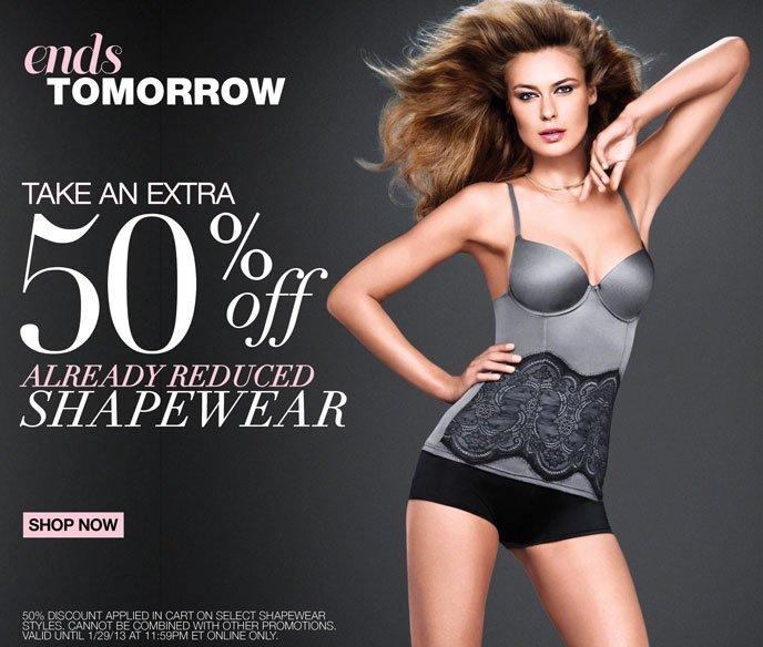 Ends Tomorrow: Take an Extra 50% Off Already Reduced Shapewear