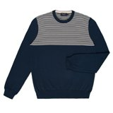 Paul Smith Knitwear - Navy Shoulder Stripe Jumper