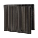 Paul Smith Wallets - Black Etched Stripe Billfold Wallet