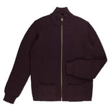Paul Smith Knitwear - Damson Funnel Neck Cardigan