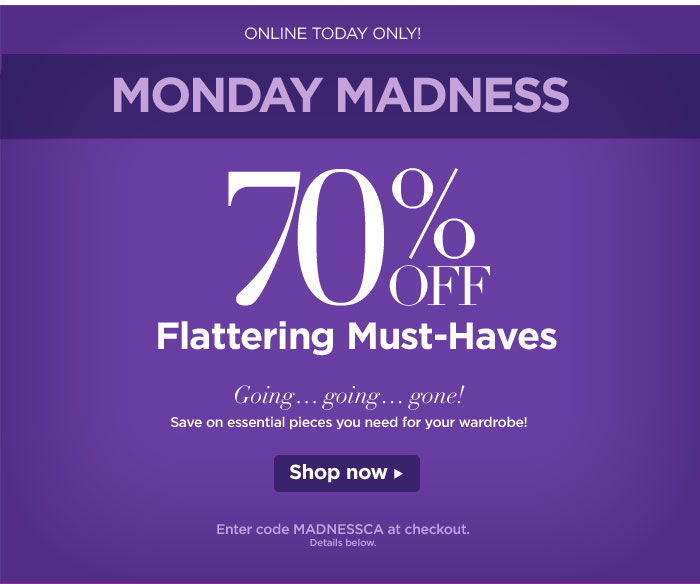 Today Only--70% Off Flattering Must-Haves