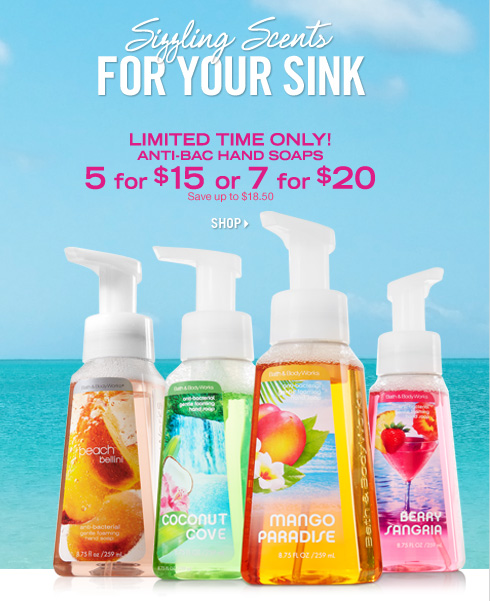 Anti–Bac Hand Soap – 5 for $15