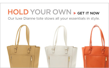 HOLD YOUR OWN | GET IT NOW | Our luxe Dianne tote stows all your essentials in style.