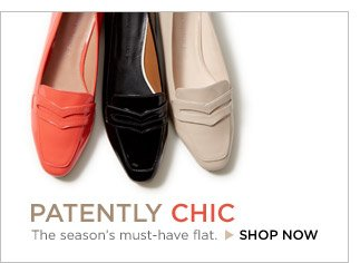 PATENTLY CHIC | The season's must-have flat. SHOP NOW