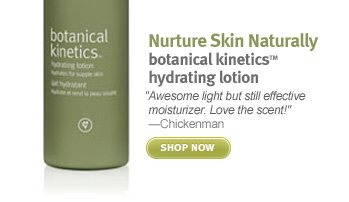 Nurture Skin Naturally  botanical kineticsTM hydrating lotion. shop now