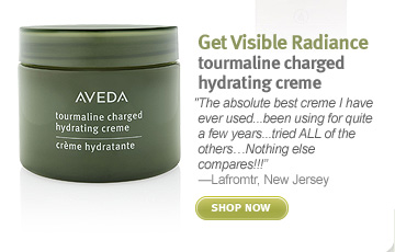 Get Visible Radiance tourmaline  charged hydrating creme. shop now.