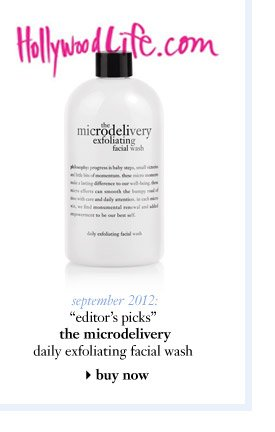 """september 2012: """"editor's picks"""" the microdelivery daily exfoliating facial wash..."""