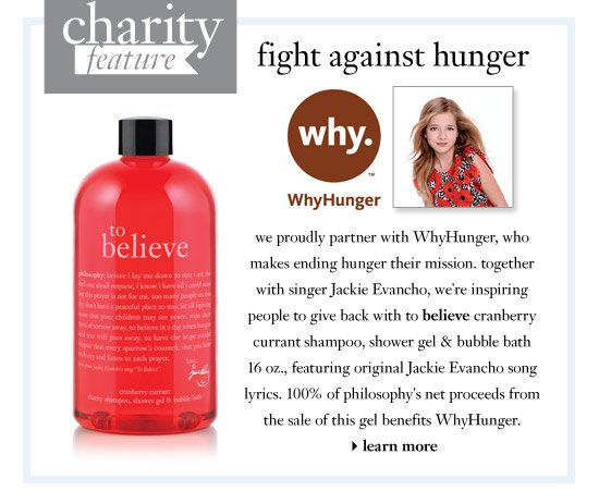 charity feature - fight against hunger - we proudly partner with WhyHunger, who makes ending hunger their mission...