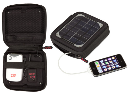 This solar charger by Voltaic Systems is one of the coolest products I've seen.