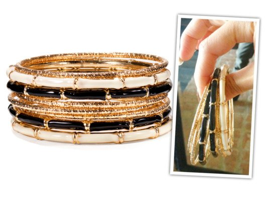 This set is such a steal! You get seven sophisticated bangles for the price of one!