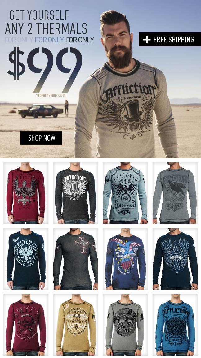 Get ANY 2 Thermals for $99 + Free Shipping!
