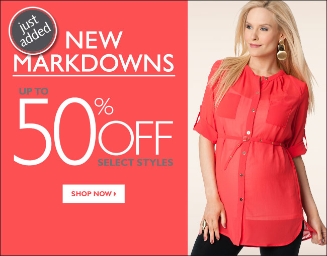 Just Added: New Markdowns - Up to 50% OFF Select Styles