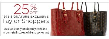 25% off 1975 Signature Exclusive Taylor Shoppers