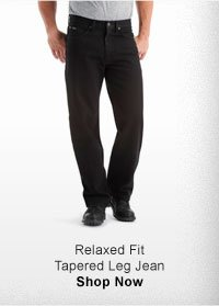RELAXED FIT TAPERED LEG JEAN SHOP NOW