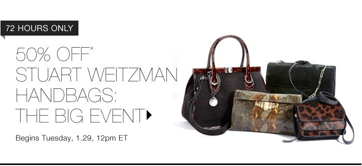 50% Off*Stuart Weitzman Handbags...Shop Now