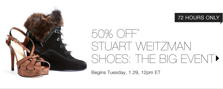 50% Off* Stuart Weitzman Shoes...Shop Now