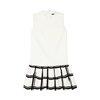 Checker-Print Dress