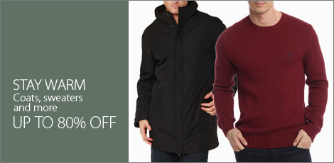 Stay Warm. Coats, Sweaters, & more