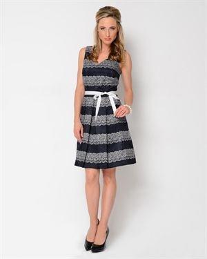 Julian Taylor Printed A-Line Dress