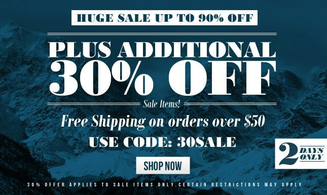 Up to 90% Off Sale! PLUS 30% Off + Free Ship on Sale Item orders over $50! Shop KL Now!