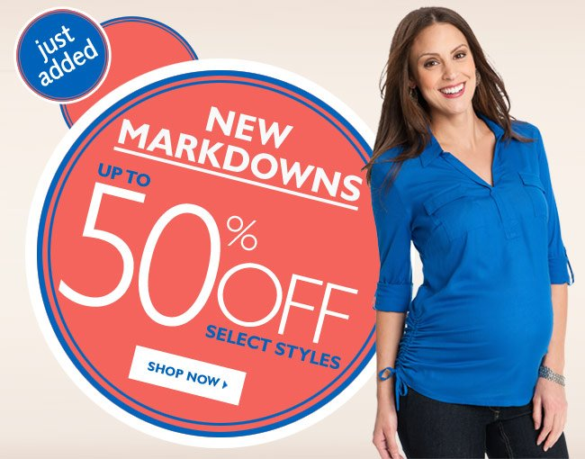 Just Added: All New Markdowns - Up to 50% OFF Select Styles
