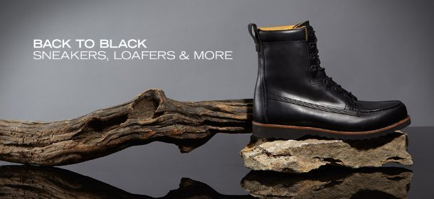 BACK TO BLACK: SNEAKERS, LOAFERS & MORE, Event Ends February 2, 9:00 AM PT >
