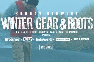 Sunday Blowout - Winter Gear & Boots