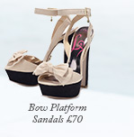 Bow Platform Sandals