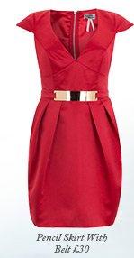 Plate Belt Tulip Dress