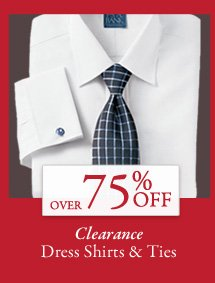 Over 75% OFF Clearance Dress Shirts & Ties