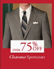 Over 75% OFF Clearance Sportcoats