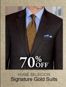 70% OFF* Signature Gold Suits