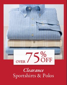 Over 75% OFF Clearance Sportshirts & Polos