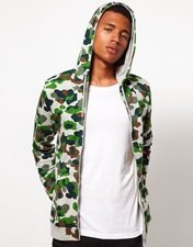 ASOS Hoodie With All Over Camo Print