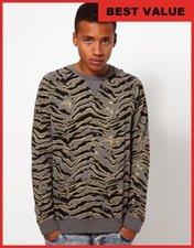 ASOS Sweatshirt With Animal Print