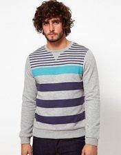 ASOS Stripe Sweatshirt