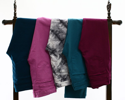 Colored Jeans in stock