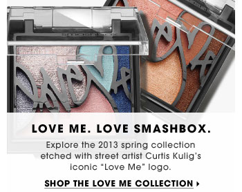 Love Me. Love Smashbox. Explore the 2013 spring collection etched with street artist Curtis Kulig's iconic Love Me logo. Shop the Love Me collection