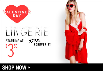 Valentine's Day Lingerie - Shop Now