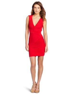 BCBGMAXAZRIA <br/> Edesa V-Neck Shirred Dress