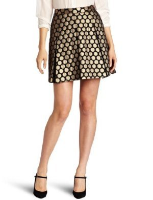 Vince Camuto <br/> Pleated Dot Jacquard Skirt
