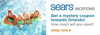 Sears VACATIONS | Get a mystery coupon towards Orlando! | How much will you save | shop now