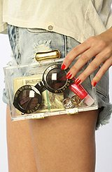 The Ceres Clutch in Recycled Lucite