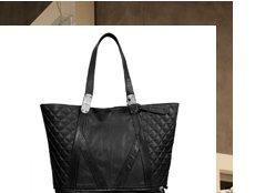 Quilted Zip Bottom Shopper Bag