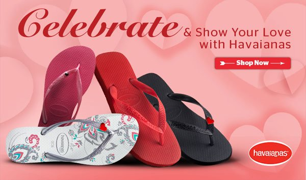New Year, new $1 flat shipping rate on all purchases on Havaianas.com