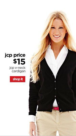 jcp price $15 | jcp v-neck cardigan | shop it