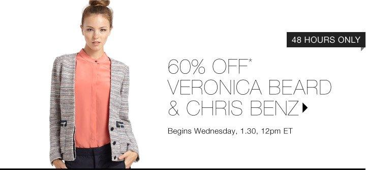 60% OFF* VERONICA BEARD & CHRIS BENZ